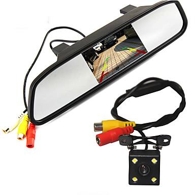 billige Bil-DVR-WG4.3-5inch 480p / 1080p HD Bil DVR 170 grader / 110 Degree Bred vinkel 5 tommers / 4.3 tommers Dash Cam med Night Vision / / Vanntett