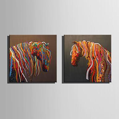 Trykk Valset lerretskunst - Abstrakt / Dyr Moderne / Europeisk Stil