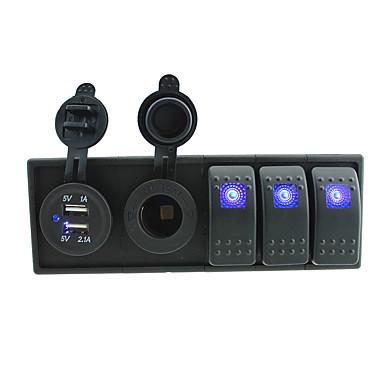 dc 12v / 24v ledet digitale 3.1a dual usb lader stikkontakt med vippevippebrytere jumper ledninger og boliger holder