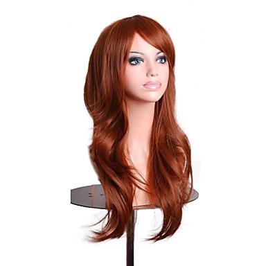 halpa Rooliasu peruukki-Synteettiset peruukit / Pilailuperuukit Laineita Tyyli Suojuksettomat Peruukki Vaaleahiuksisuus Vaaleahiuksisuus Pinkki Valkoinen Synteettiset hiukset Naisten Vaaleahiuksisuus / Valkoinen / Ruskea