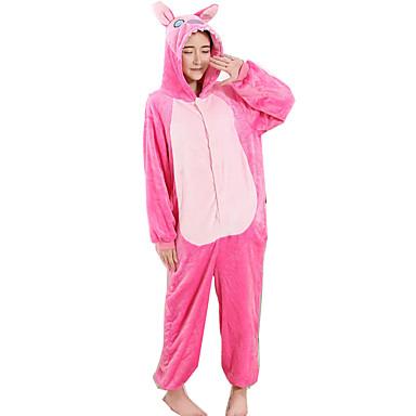 Kigurumi-pysjamas Blå Monster / Anime Onesie-pysjamas Kostume Flanell Fleece Rosa Cosplay Til Voksne Pysjamas med dyremotiv Tegnefilm