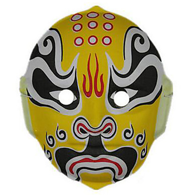 CHENTAO Haloween-masker Håndmalt maske Horrortema Plast 1pcs Deler Barne Gave