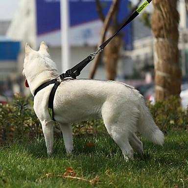 Kat / Hund Seler Justerbare / Uttrekkbar / Trening / Verneutstyr Politi / Militær ekte lær Svart
