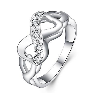 Damen Ring - Kupfer Unendlichkeit Einzigartiges Design 6 / 7 / 8 Silber Für Party / Büro / Geschäftlich / Alltag