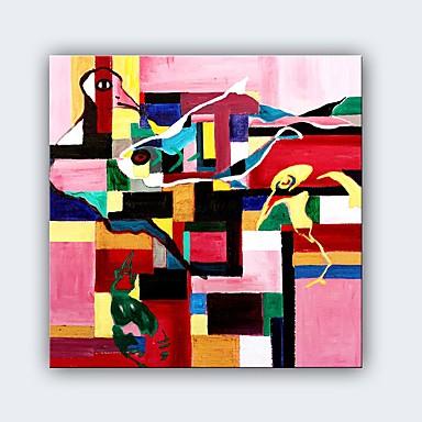 Hang malte oljemaleri Håndmalte - Abstrakt Klassisk / Moderne Lerret / Stretched Canvas
