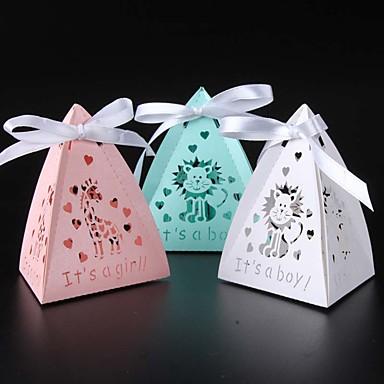 Pyramide Perle-papir Gaveholder Med Bånd Favoritt Esker