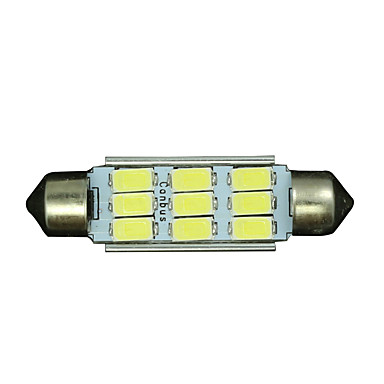 billige Interiørlamper til bil-SO.K 10pcs T11 Bil Elpærer 3 W SMD 5730 300 lm LED interiør Lights Til