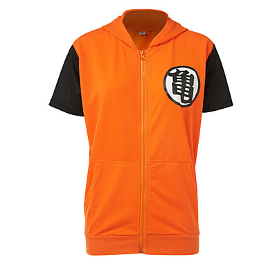 Inspired by Dragon Ball Cosplay Anime Cosplay Costumes Cosplay Tops/Bottoms Cosplay Accessories Patchwork Top For Men's Women's