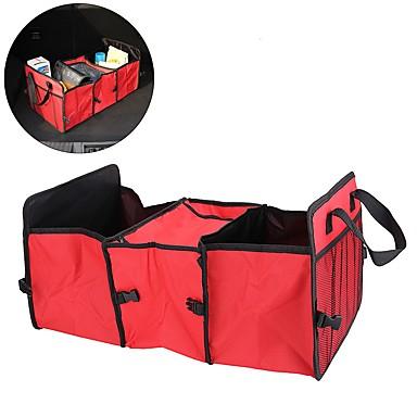 حقيبة صندوق السيارة تخزين أكسفورد مربع تخزين القماش قابلة للطي كيس مرتبة صندوق تخزين منظم مع برودة حقيبة الملحقات الداخلية