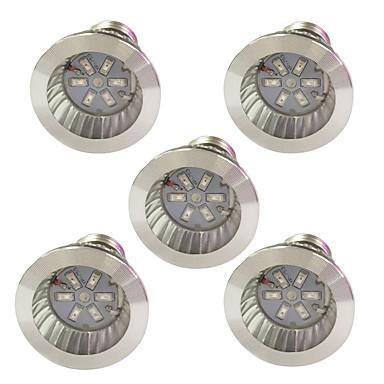 5pcs 3.5W 100lm E14 GU10 E27 Growing Light Bulb 6 Cuentas LED SMD 5730 Azul Rojo 85-265V