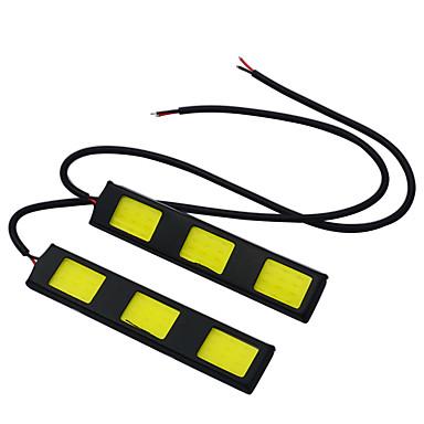 JIAWEN 2pcs Carro Lâmpadas 3.5W COB LED Luz Anti Neblina / Luz Diurna / Luz traseira Para
