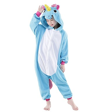 6899fb719 Kid's Baby Cosplay Costume Halloween Props Kigurumi Pajamas Unicorn Pony Onesie  Pajamas Flannel Toison Purple /
