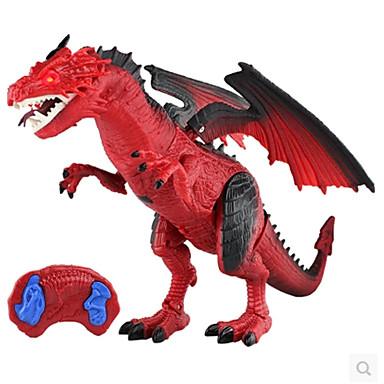 hesapli Oyuncaklar ve Oyunlar-Uzaktan Kumandalı Oyuncaklar Ejderhalar ve Dinozorlar Modely Ejderhalar Triceratops Jura Dinozoru Hayvanlar Uzaktan Kontrol Şarj Edilebilir Plastik Çocuklar için Genç Erkek Oyuncaklar Hediye