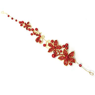 abordables Coiffes-Perle / Cristal / Tissu Diadèmes / Bandeaux / Fleurs avec 1 Mariage / Occasion spéciale / Fête / Soirée Casque / Alliage