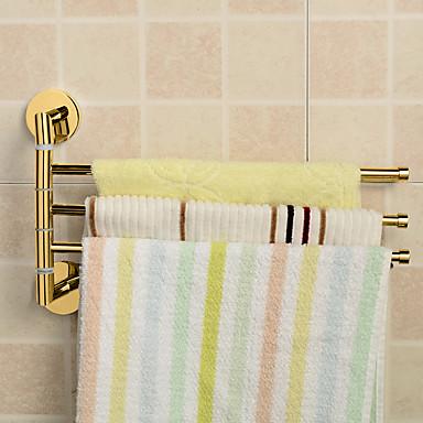 Håndklestang Moderne Messing 1 stk - Hotell bad 3-håndkle bar