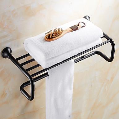 Prateleira de Banheiro Clássica Latão 1 Pça. - Banho do hotel Casal (L200 cm x C200 cm)