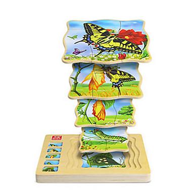 voordelige 3D-puzzels-Legpuzzel Steekpuzzels Houten modellen Vlinder 1 pcs Unisex Speeltjes Geschenk