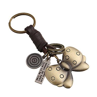 مفتاح سلسلة مفتاح سلسلة فراشة معدن عتيق رجعي 1 pcs قطع للجنسين ألعاب هدية