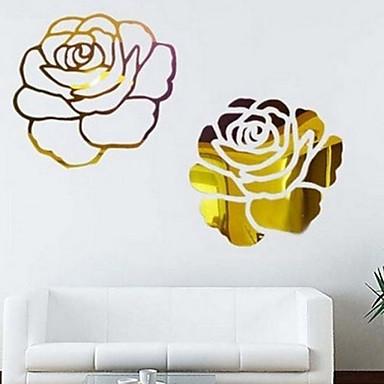 لواصق حائط مزخرفة - ملصقات الحائط على المرآة رومانسية / أزياء / وقت الفراغ غرفة النوم / غرفة الطعام / غرفة دراسة / مكتب