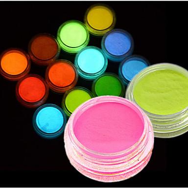 Недорогие Все для маникюра-1шт Акриловый порошок / Порошок блеска / Гель для ногтей Светится в темноте / С подсветкой Дизайн ногтей