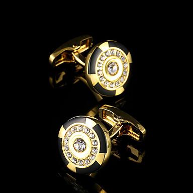 Forma Geométrica Dourado Botões de Punho Cobre Clássico / Caixas de presente e Bolsas / Fashion Homens Jóias de fantasia Para Festa /