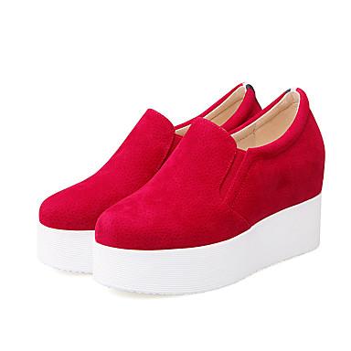 club 05684163 Chaussures Polyuréthane de Eté Bout Gris Plateau Rouge Noir Automne Evénement amp; Soirée Chaussures Femme Basket rond IqT4YY