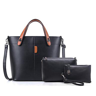 Damen Taschen PU Bag Set 3 Stück Geldbörse Set für Hochzeit Veranstaltung / Fest Normal Formal Ganzjährig Schwarz Rote Grau Braun