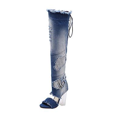 Mujer Zapatos Vaquero Verano / Invierno Confort / Innovador / Gladiador Botas Tacón Stiletto Azul / Zapatos del club / Boda Collections De Prix Pas Cher Vente Pas Cher Énorme Surprise QhTLbo83Q