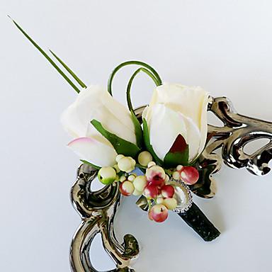 زهور الزفاف باقات ورود العروة أخرى أزهار اصطناعية زفاف حفل / مساء مادة حصى دانتيل البوليستر ستان 0-20cm