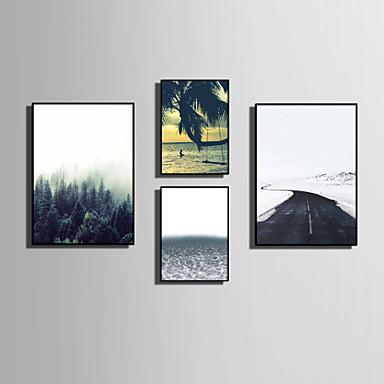 framed canvas framed set landscape floral botanical words quotes