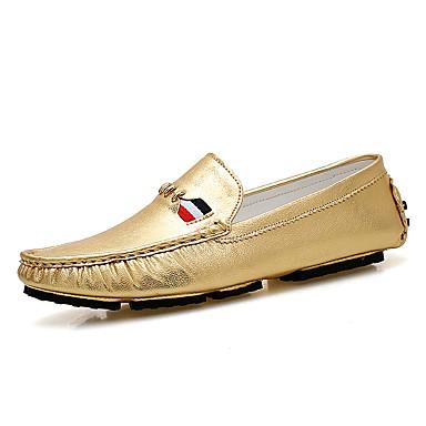 Miehet kengät Mikrokuitu Kevät Kesä Mokkasiinit Käyttötarkoitus Kulta Hopea