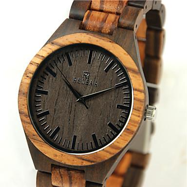 baratos Relógios Homem-Homens Relógio de Pulso Relógio Madeira Japanês Quartzo Quartzo Japonês Madeira Bege Legal de madeira Analógico