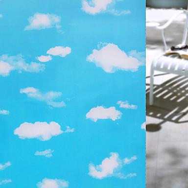 هندسي رجعي ملصق النافذة, PVC/Vinyl مادة نافذة الديكور غرفة الطعام غرفة النوم المكتب غرفة الأطفال غرفة المعيشة غرفة حمام شوب / مقهى المطبخ