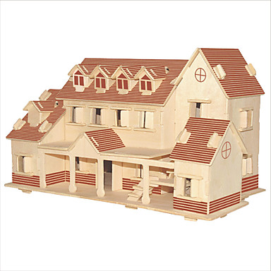 Building Blocks 3D Puzzles Jigsaw Puzzle Wooden Puzzles Educational Toy Famous buildings Chinese Architecture House DIY 1pcs Kid's Men's