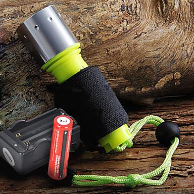 LED svjetiljke Ručne svjetiljke LED 1600 Lumena 3 Način Cree XM-L T6 18650Kampiranje / planinarenje / Speleologija Uporaba Ronjenje /