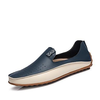 Homens Loafers de conforto Couro Primavera / Verão / Outono Conforto Mocassins e Slip-Ons Bege / Azul