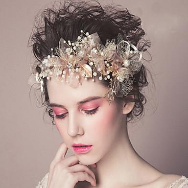 Pérola Headbands / Flores / Presilha de cabelo com 1 Casamento / Ocasião Especial / Casual Capacete