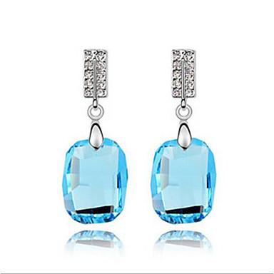 billige Moteøreringer-Dame Krystall High End Crystal Personalisert Geometrisk Enkel Stil Euro-Amerikansk øredobber Smykker Gull / Mørkeblå / Blå Til Bryllup Fest Bursdag Gave