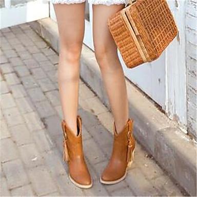 Jaune Clair Marron Talon Combat 05685502 Confort de Hiver Plat Chaussures Bottes Femme boîtes Polyuréthane nP8qvq7A