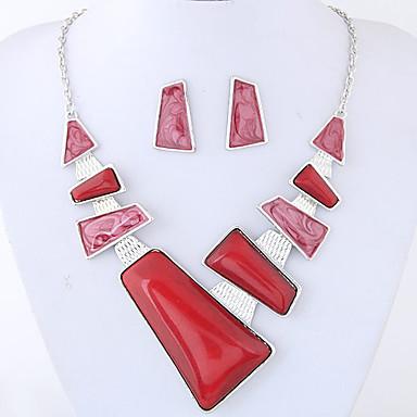Mulheres Geométrica Conjunto de jóias - Fashion, Euramerican Incluir Vermelho / Azul Para Festa / Diário