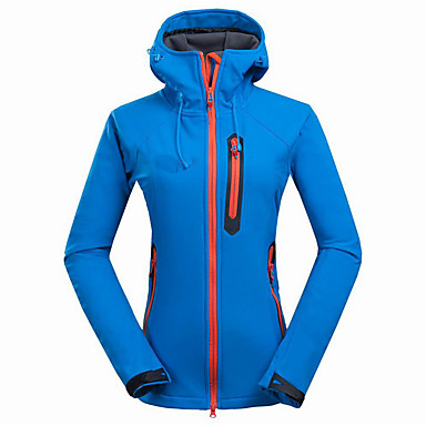 Women's Hiking Softshell Jacket Outdoor Spring Summer Thermal / Warm Breathable Top Softshell Camping / Hiking Snowsports Backcountry LightBlue / Fuchsia / Light Purple