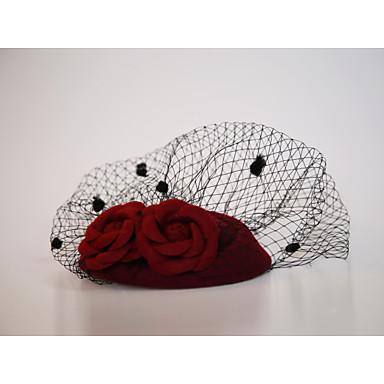 قماش فانيلا / صاف قطع زينة الرأس / غطاء شفاف للوجه مع 1 زفاف / مناسبة خاصة / الأماكن المفتوحة خوذة