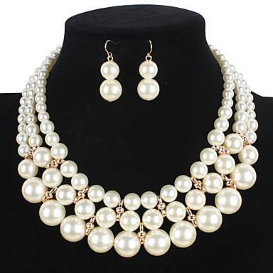 Mulheres Conjunto de jóias - Pérola Euramerican Incluir Branco Para Casamento / Festa / Ocasião Especial