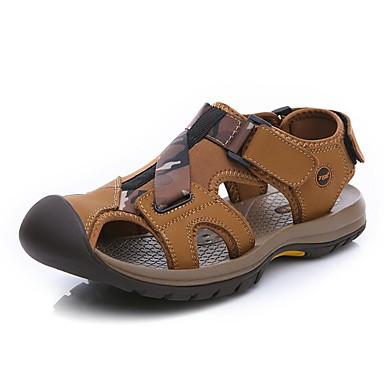 Homens Sapatos Pele Primavera Verão Outono Conforto Sandálias Tênis Anfíbio para Casual Work & Safety Escritório e Carreira Ao ar livre