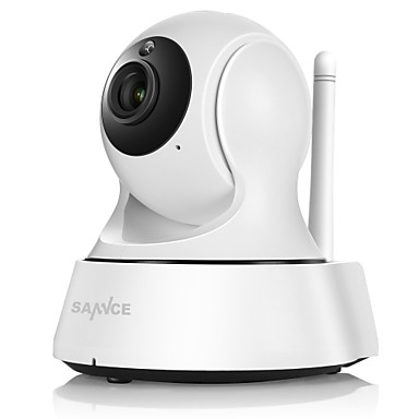 SANNCE 1.0 MP Indoor with IR-cut Day Night 64(Day Night Motion Detection Remote Access Plug and play Wi-Fi Protected Setup IR-cut) IP