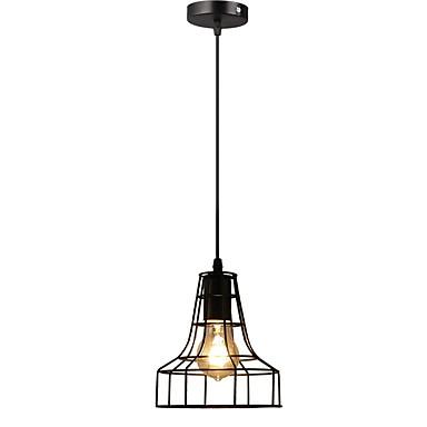 خمر معدنية سوداء قفص loft مصغرة قلادة الأنوار غرفة المعيشة غرفة الطعام الرواق المقاهي الخفيفة الإضاءة