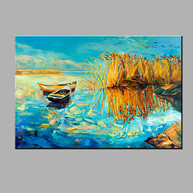 Buy Hand-Painted Abstract Oil painting Ready Hang Modern One Panels Canvas Painting Home Decoration