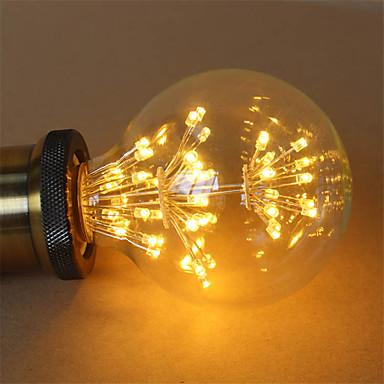 billige Dekorasjonspærer-1pc 3 W LED-glødepærer 200 lm E26 / E27 G95 47 LED perler COB Dekorativ Stjernefull Varm hvit 85-265 V / RoHs