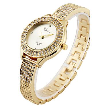 Mujer Reloj de Pulsera Cool Acero Inoxidable Banda Casual / Moda / Elegante Dorado