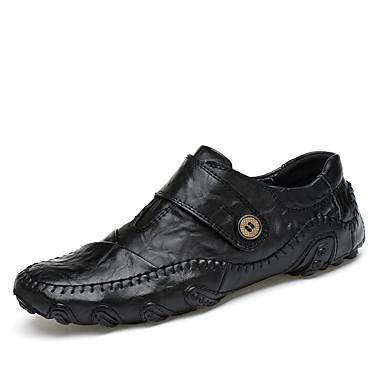 Homens sapatos Couro Ecológico Couro Verão Outono Solados com Luzes Conforto Oxfords para Casual Ao ar livre Preto Castanho Claro
